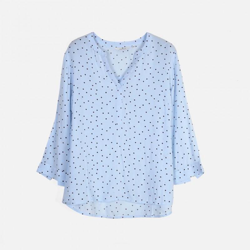 TOM TAILOR Shirt, V-Neck Dot Shirt For Women's