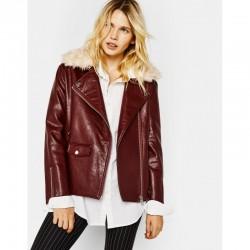 Bershka Jacket, Women Leather Biker Jacket