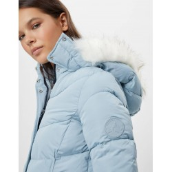 Bershka Jacket, Puffer Parka jacket, Baby-Blue