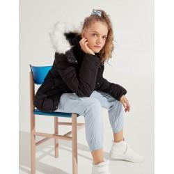 Bershka Jacket, Puffer Parka jacket, Black