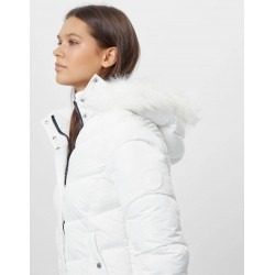 Bershka Jacket, Puffer Parka jacket, White