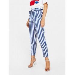 Bershka Ladies Trouser, Zoe Blue Pants, Soft Design