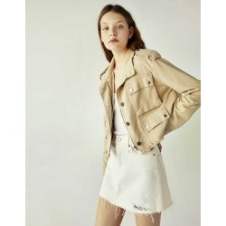Bershka Jacket, Jeans with Pockets For Women's