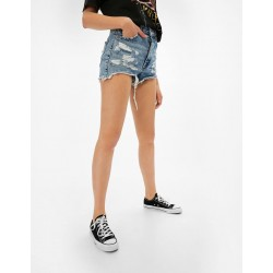 Bershka Shorts, Blue high Waisted Shorts