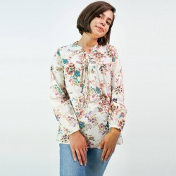 Eden & Olivia Shirt, Plaid Long Sleeves Shirt For Women's