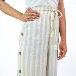 French Laundry Pants, Wide Striped Leg For Women's