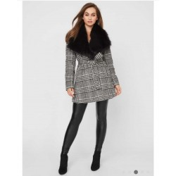 GUESS Coat, with Plush Faux Fur Collar
