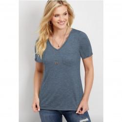 Maurices T-Shirt, 24/7 V-Neck Pocket Tee