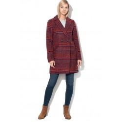 ONLY Coat, Long Plaid Casual Coat