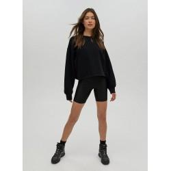 Tna Sweatshirt, Cozy Fleece Boyfriend Cropped Sweatshirt