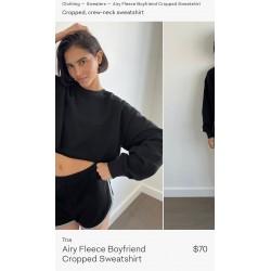 Tna Sweatshirt, Fleece Boyfriend Cropped Sweatshirt