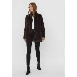 VERO MODA Jacket, Faux Fur with High Nick