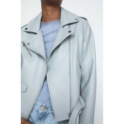 ZARA Jacket, Women's Faux Leather Biker Jacket