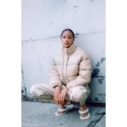 ZARA Jacket, Women's Faux Leather Puffer Jacket