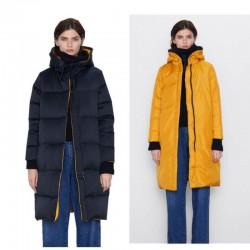ZARA Jacket, Reversible Down Women's Long Jacket