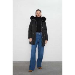 ZARA Jacket\Coat, Casual Jacket For Women's with Fur Hood