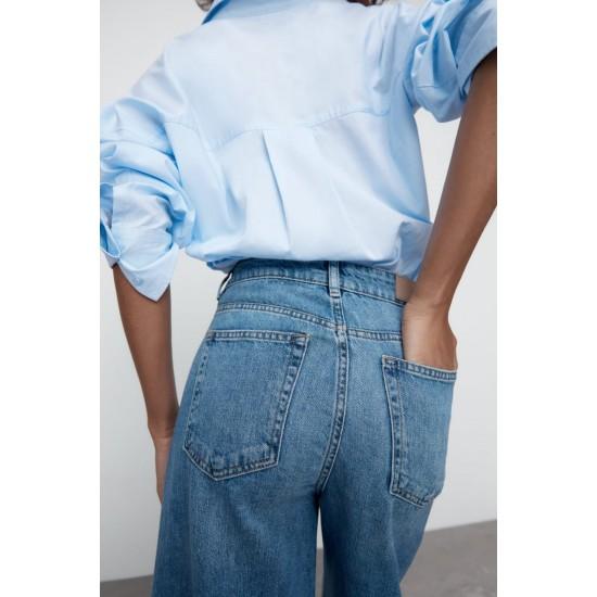 ZARA Jeans, Wide Leg Denim Wear For Women's