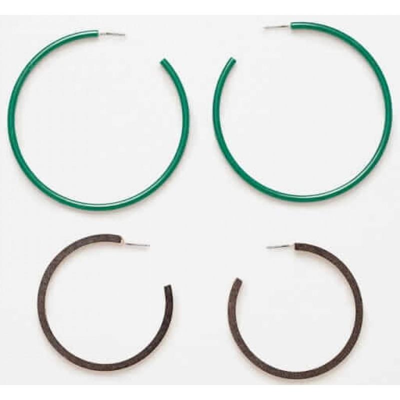 ZARA Earrings, 4-Pieces With Modern Design