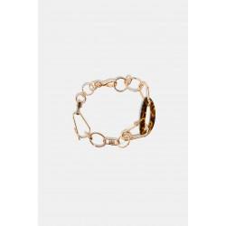 ZARA Necklace, Metallic with Carabiners, links and Tortoiseshell